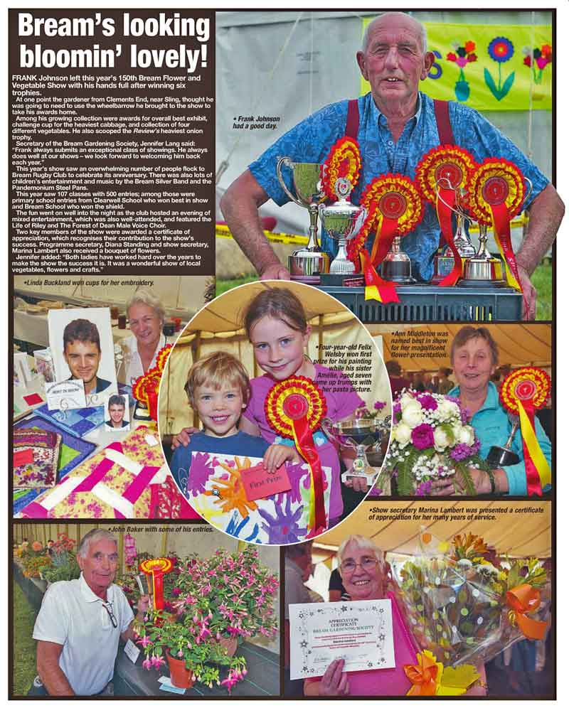 An image of a press report of the 2015 summer show.