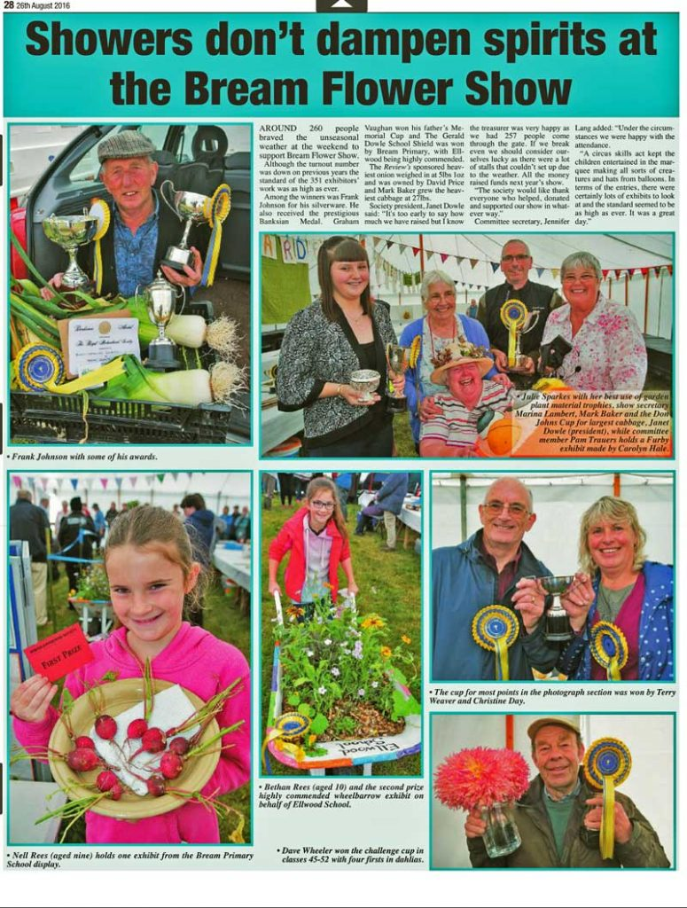 A press report of the 2016 Summer Show from the Forest of Dean and Wye Valley Review.
