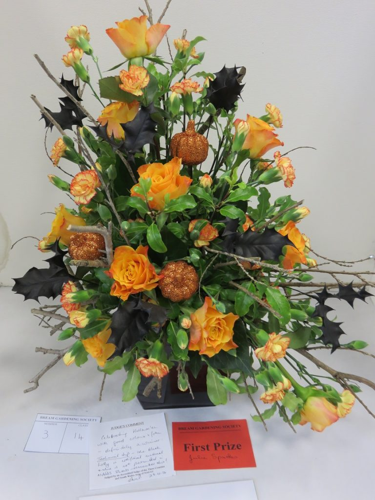 Beautiful floral arrangement submitted by one of our youngest members.