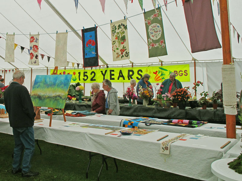 A photo of craft exhibits at the show