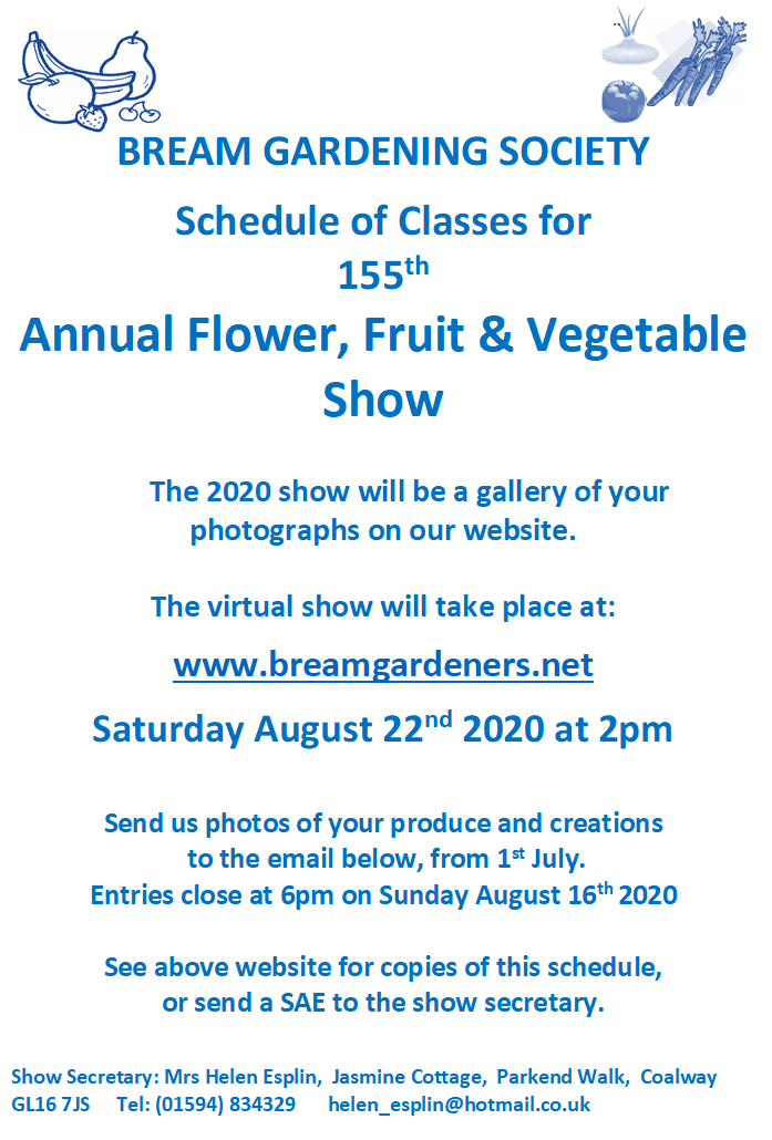 An image showing Bream Summer Show Schedule for the 2020 Show